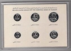 Kuwait – Rare Silver Proof 6 Dif Coins Set1 - 100 Fils 1987 Year Km9a-14a Ps4