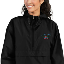 Porsche Enthusiast Flat Six Life Embroidered Champion Packable Jacket