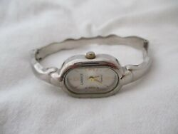 Carriage By Timex Gold And Silver Toned Women's Cuff Band Wristwatch