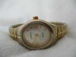 Carriage By Timex Watch Gold And Silver Toned Expansion Band Elegant Oval Shaped