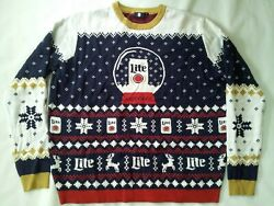 2018 Miller Brewing Company Miller Lite Authentic Christmas Sweater In Size Xxl