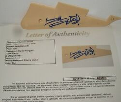 Keith Richards Signed Guitar Guard The Rolling Stones Rock Autograph Jsa Loa