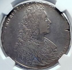 1728 Russia Emperor Peter Ii Son Of The Great Silver Rouble Coin Ngc I81890