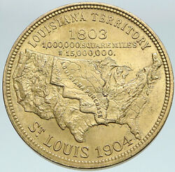1904 Louisiana Purchase St Louis Fair So-called Dollar Token Napoleon I87517