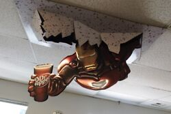 Iron Man 2 Dr Pepper Ceiling Display Rare Iron Man Popping Out Of Ceiling Promo