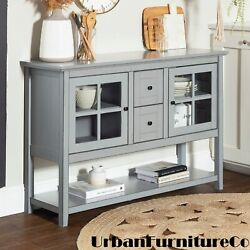52-inch Buffet Cabinet Tv Console Server Storage Living Dining Room Furniture