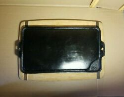 Vintage Birmingham Stove And Range Bsr Cast Iron Dry-fry Long Griddle Nice