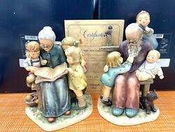 Hummel A Story From Grandma 620 And At Grandpas 621 Matched Set Limited Edition