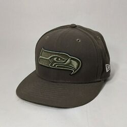 2017 Seattle Seahawks New Era Nfl Salute To Service 59/50 Fitted Hat Youth 6 7/8