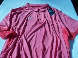 Nwt Under Armour Heat Gear Polo Menand039s 5xl Pointed Collar 65 Coral Orange
