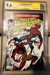 Spiderman 361 Cgc 9.6 Signed X3 Stan Lee, Bagley And Emberlin