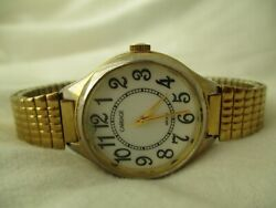 Carriage By Timex Women's Gold Toned Classy Wristwatch W/ Metal Expansion Band