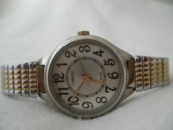 Carriage By Timex Watch Round Face Gold And Silver Toned Expansion Band Wr 30m