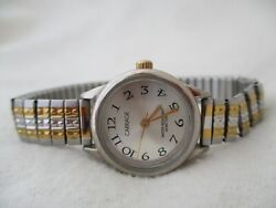 Carriage By Timex Analog Wristwatch With An Expansion Band And Water Resistance