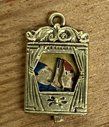 Punch And Judy Puppet Show Charm 14k Gold Moveable Sloan Super Cool