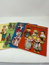 Vintage Paper Doll Books Set Of Four New Condition