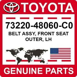 73220-48060-c0 Toyota Oem Genuine Belt Assy Front Seat Outer Lh