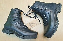 New Meindl German Army Sf Issue Black Leather Goretex Combat Boots Size 11 Uk