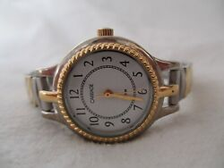 Carriage By Timex Watch Gold And Silver Toned Expansion Band Water Resistant