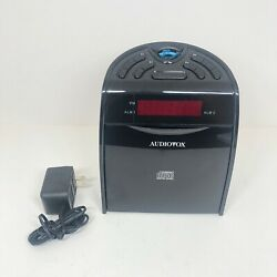 Audiovox Cd1120 Am/fm Clock Radio With Cd Player And Power Supply Tested Works