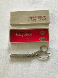 Vintage Kleencut Pinking Shears With Automatic Stop / Original Box
