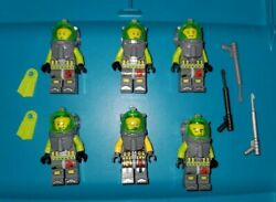 Lego Atlantis Minifigures - Lot Of 6 Scuba Divers W/ Flippers And Harpoons