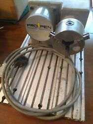 Propen Dp 3000 Rotary Tool W/ 3 Jaw Chuck Cylindrical Marking Device Used