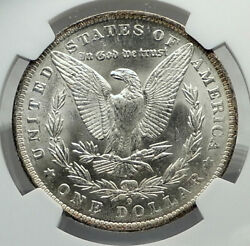 1884 United States Of America Silver Morgan Us Dollar Coin Eagle Ngc Ms I79616