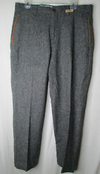 Orvis Signature Collection Donegal Flat Front Tweed Pants 34