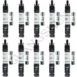 Fit Solar Pv Solar Panel In-line Fuse Holder + Fuse 10a 15a 20a 30a