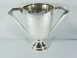 Antique Vintage 1950 Sterling Silver Large 19cm Trophy Swimming Cup Chalice Wandh