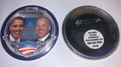 Official 56 Inaguration Day Jan 20, 2009 Obama And Biden Inauguration Button 3