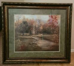 Glynda Turley Framed Print 36 X 32 Autumn At The Olivers Hand Signed