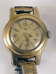 Antique Heuer Womens Automatic Wristwatch Small Dainty Not Working For Repair