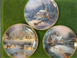 Lot 3 Of 4 Plates Gather At Our Home Thomas Kinkade Plate Collection