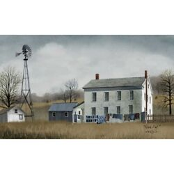 New Billy Jacobs Wash Day Laundry Farmhouse Wind Mill Farm Wall Hanging Picture