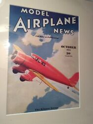 Model Airplane News Magazine Cover Mcm Matted Print With Magazine Included T