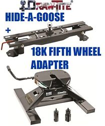 Drawtite Undrbed Gooseneck Trailer Hitch And 18k Fifth 5th Wheel Adapter Dodge Ram