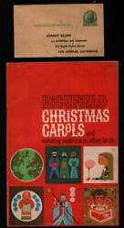 Richfield Oil Jimmie Allen Flying Club Appl. And Christmas Carols Illus Book '60s