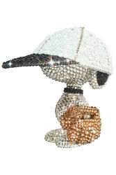 New Medicom Toy Udf Crystal Decorate Snoopy Baseball Player Snoopy Lights Style