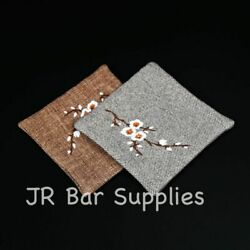 Newest 100 Pure Linen Coasters Set Of 4 Bar Kitchen For Drinks 4 X 4 Inch Size