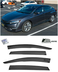 Eos Visors For 17-up Honda Clarity Jdm Mugen Style Side Vents Window Rain Guards