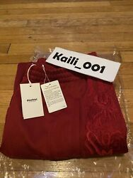 Doublet Ss20 Chaos Embroidery Track Pants Size Xl Red Sweatpants B
