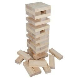Giant Tumbling Timbers Party Game Recreation Wood Toys Timbers With Carrying Bag
