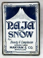 Both Side Porcelain Enamel Sign Board Of Indian Local Brand Advertise Raja Snow