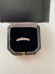 Chupi Solid White Gold Crown Of Love Ring Classic Diamond - Hawthorn Band Size L