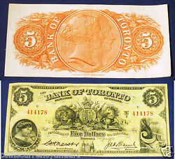 Canada Chartered Banknote - 1937 5 Bank Of Toronto - Just Beautiful