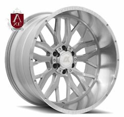 4 22x12 Axe Compression Forged 1.1 Silver Brushed Wheels 6x5.5 6x135 Chevy Ford