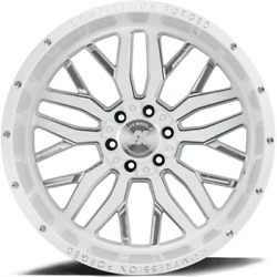 4 New 22x12 Axe Compression Forged 1.3 White Wheels 6x5.5 6x135 Chevy Ford