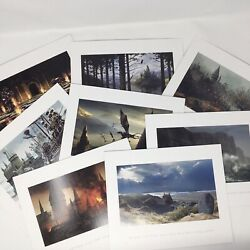 Harry Potter Concept Art Lithograph Prints Set Of 8 Wizards Collection New